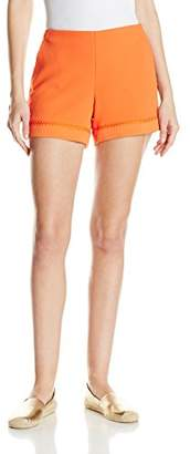 Trina Turk Women's Link 2 Carmel Crepe Short with Stitch Detail