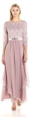 Jessica Howard Women's Lace Bodice Gown with Inset Waist $178 thestylecure.com