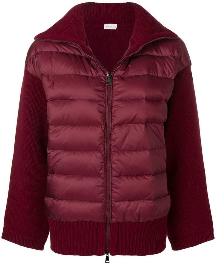 padded front knit jacket