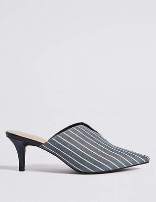 Marks and Spencer Wide Fit Kitten Heel Mule Shoes