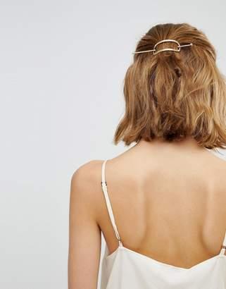 Orelia Hammered Open Thread Through Hair Clip
