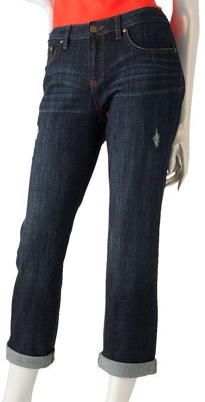 JLO by Jennifer Lopez distressed boyfriend jeans