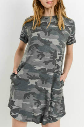 Cherish Grey Camo Dress