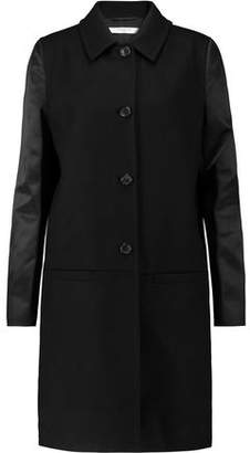 Givenchy Satin-Paneled Wool Coat