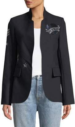 Zadig & Voltaire Very BIS Button-Less Embellished Jacket
