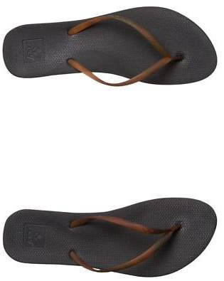 Reef New Women's Womens Escape Lux Tortoise Thong Rubber Black