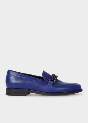 Paul Smith Women's Indigo Calf Leather 'Cora' Loafers