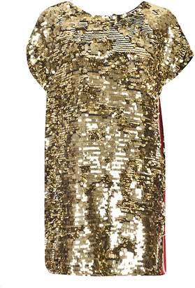 MSGM Sequin Embellished Loose Dress