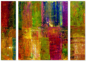 Michelle Calkins 'Color Abstract' Large Multi-Panel Wall Art Set