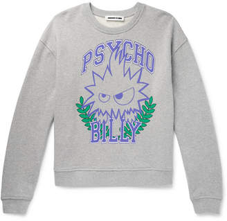 McQ Psychobilly Printed Loopback Cotton-Jersey Sweatshirt - Men - Gray