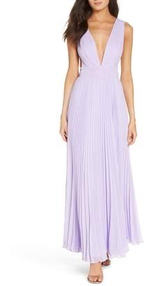 Fame & Partners The Peyton Pleated Gown