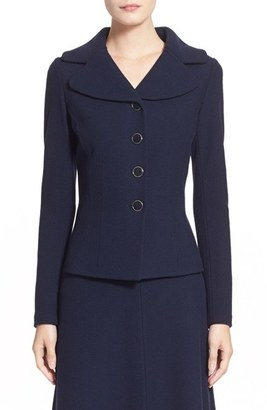 Women's St. John Collection Micro Boucle Knit Jacket $1,295 thestylecure.com