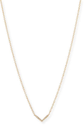 Ef Collection Mini Diamond Chevron Pendant Necklace