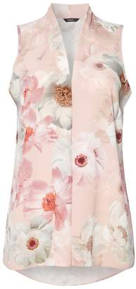Dorothy Perkins Womens *Roman Originals Light Pink Floral Print Sleeveless Top