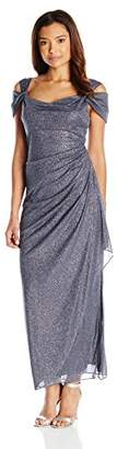Alex Evenings Women's Petite Long Dress with Side-Ruched Skirt
