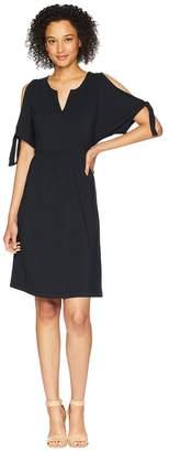 Mod-o-doc Cotton Modal Spandex Jersey Tied Sleeve Cold Shoulder Dress Women's Dress
