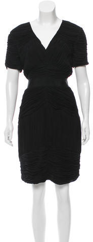 Burberry Burberry London Ruched Knee-Length Dress
