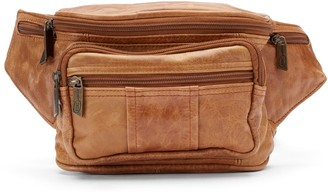 Amerileather AmeriLeather Easy Traveler Leather Fanny Pack