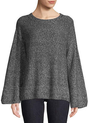 Style&Co. STYLE & CO. Marled Wide Long-Sleeve Sweater