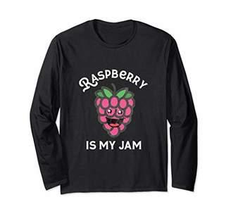 Raspberry Is My Jam Cute Kawaii Fruit Jelly Breakfast Spread Long Sleeve T-Shirt
