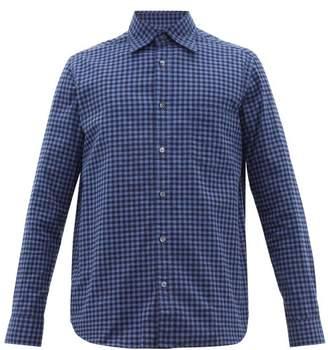 The Gigi - Hoba Gingham Cotton Shirt - Mens - Blue Multi