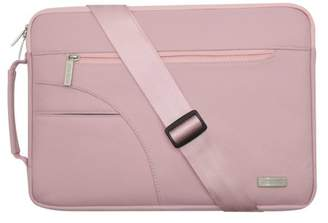 Mosiso Laptop Shoulder Bag for 13-13.3 Inch MacBook Pro, MacBook Air, Ultrabook Netbook Tablet, Polyester Ultraportable Protective Briefcase Cover, Pink