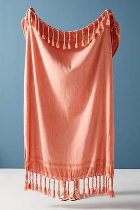 Anthropologie Fringed Rope Throw Blanket