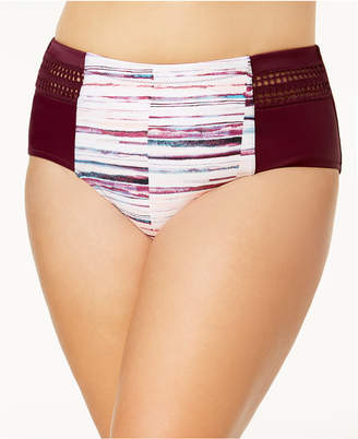 Raisins Curve Trendy Plus Baja Surf Tummy-Control High-Waist Bikini Bottoms Women's Swimsuit