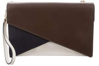Tory Burch Colorblock Leather Wristlet - BLUE - STYLE