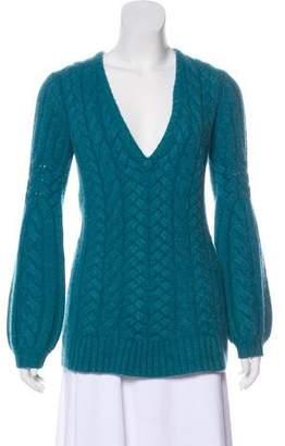 Magaschoni V-Neck Knit Sweater