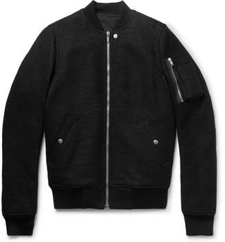 Rick Owens Boiled Virgin Wool Bomber Jacket