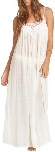 BillabongWomen's Billabong Lace Trim Maxi Cover-Up Dress