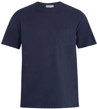 Kilgour Patch Pocket Cotton Pique T Shirt - Mens - Navy