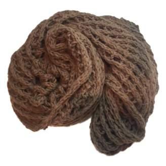 Dries Van Noten Brown Wool Scarf
