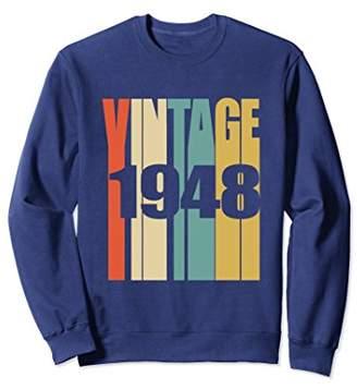 Retro Vintage 1948 Sweatshirt 70 yrs old Bday 70th Birthday