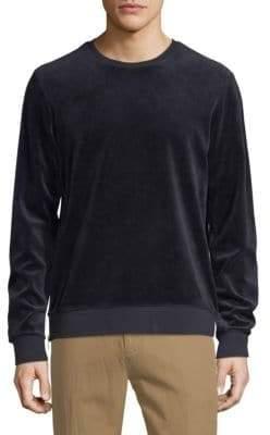 Vince Side Zip Crewneck Long-Sleeve Sweatshirt