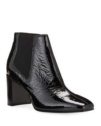 Rag & Bone Aslen Mid-Heel Patent Chelsea Booties