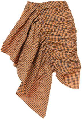 Marques Almeida Marques'almeida ruched asymmetric fitted skirt