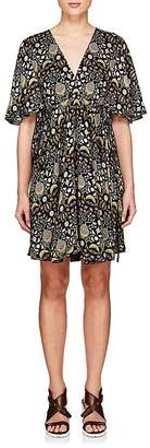 Chloé Women's Blossom-Print Crepe Dress