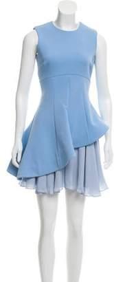 Cushnie et Ochs Silk Lined Peplum Dress
