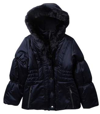 Rothschild Shawl Puff Jacket with Faux Fur (Big Girls)