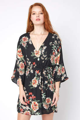 Juniper Blu Floral Kimono Mini Dress