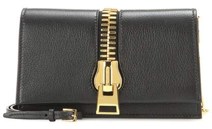 Tom Ford Small Zip Front leather shoulder bag