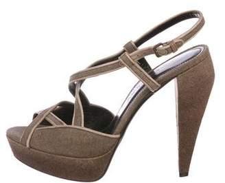 Burberry Woven Platform Sandals