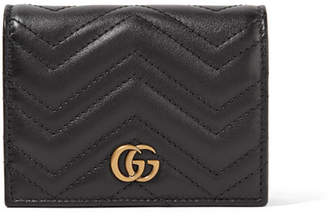 Gucci Gg Marmont Small Quilted Leather Wallet - Black