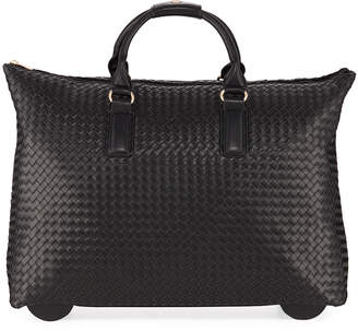 Jagger Kc Laney Woven Faux-Leather Rolling Bag