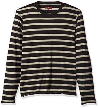 9b8662fef1757 7 For All Mankind Men s Long Sleeve Striped Crew Neck Tee Shirt