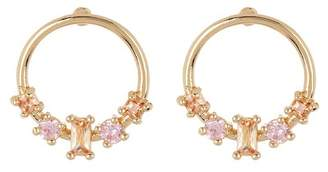 14th & Union Tiny Multi Stone Stud Hoop Cluster Earrings