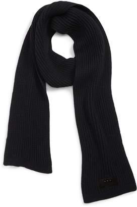 John Varvatos Plated Thermal Knit Merino Wool Scarf