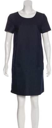 Cuyana Short-Sleeve Denim Dress